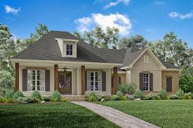 142 1163 front elevation of acadian home plan theplancollection house plan 142 1163