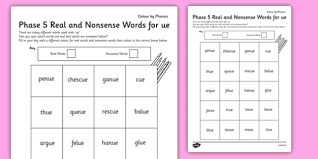 Phonics worksheets and online activities. Phase 5 Ue Phonics Words Teacher Made