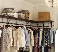 Wardrobe Coat Rack Simple New York Closet Shelves Pottery Barn