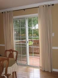 sliding glass door curtain rods