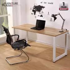 designer office table. Perfect Office Fu0026F 140cm X 70cm Simple Home U0026 Living White Leg Frame Designer Office Throughout Table P
