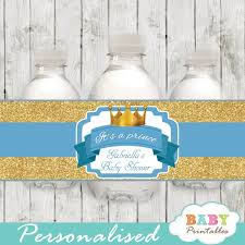 Blue Watercolor Flower Baby Boy Shower Theme  Banner IdeaBaby Boy Shower Water Bottle Labels