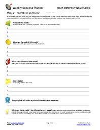 Weekly Planning Weekly Success Planning Tool Coaching Tools From The Coaching Tools Company Com