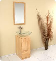 bathroom modern vanities. Unique Vanities 17u201d Fresca Brilliante FVN6117NW Natural Wood Modern Bathroom Vanity W  Mirror Intended Vanities
