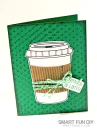 this gift card holder is coffee themed but you can make it however you like