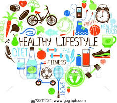 Fitness Health Clip Art Vector Healthy Lifestyle Diet And Fitness Heart