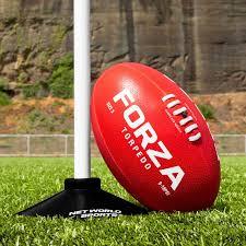 Forza Torpedo Afl Training Football Weatherproof Aussie Rules Footballs 100 Hand Stitched