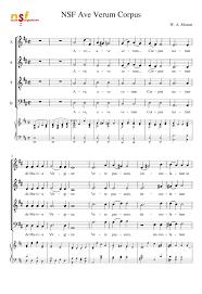 ave verum corpus sheet music ave verum corpus mozart sheet music for voice piano musescore