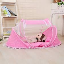 portable baby bed crib folding mosquito net cushion mattress summer baby infants mosquito polyester mesh crib