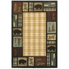 rustic style area rugs large size of cabin lodge style area gs with plus stic