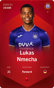 Game log, goals, assists, played minutes, completed passes and shots. Lukas Nmecha 2020 21 Rare 10 100