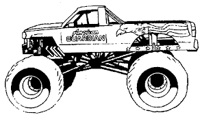 Coloring Pages Monster Trucks Ideas Inside Mud Truck - glum.me