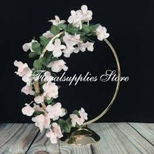 New Design Floral 10pcs 2019 New Gold Round Wedding Centerpiece Vase Hoop