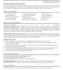 Program Manager Resume Sample Project Manager Resume Format