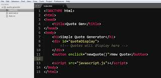 Html Quote Extraordinary How To Build A Random Quote Generator With JavaScript And HTML For