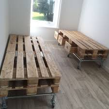 Marvelous Pallet And Scaffold Single Bed With Storage Below Recycled Industrial Style Bedroom Furniture Diy Beds Instructions