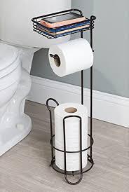 tissue paper stand. Delighful Tissue Free Standing Toilet Paper Holder Tissue Roll Stand Bronze Bathroom  Organizer MetroDecor Throughout
