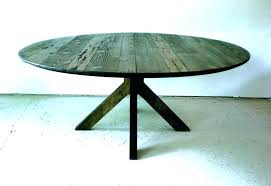 round reclaimed wood dining tables table via rustic metal legs di