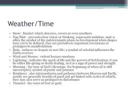 symbolism in literature ppt video online  11 weather time