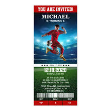 Soccer Party Invitation Template Soccer Birthday Party Invitation Template Ticket