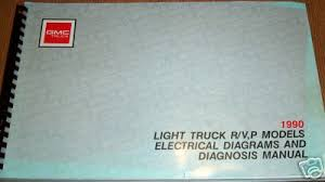 chevy truck wiring 1990 gmc light truck r v p models electrical diagrams and diagnosis manual