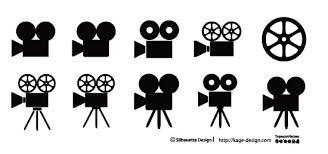 映写機のアイコン素材詰め合わせ シルエットデザイン