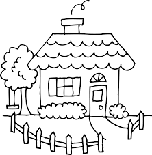 Small Picture Cute Cozy House Coloring Page Free Clip Art