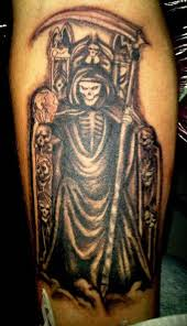 Terrible Death On A Throne With Skulls Tattoo Tattoos Book