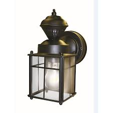 secure home h matte black motion activated outdoor patio wall light lamp