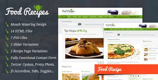 Food Recipes Food Website And Blog Template By Inspirythemes