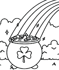 Pot Of Gold Color Sheets Pot Of Gold Coloring Pages Empty Page Leprechaun Rainbow