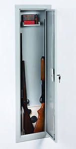 Stack-On IWC-55 Full Length In Wall Gun Storage Vault Cabinet Safe ...