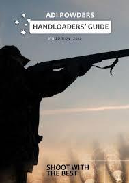 Adi Powder Reloading Chart Pistol Adi Powders Handloaders Guide