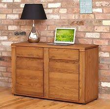 london oak large pedestal home. grove dark oak furniture hidden home office pc computer desk london large pedestal