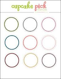 Katemacy Free Digital Cupcake Pick Topper Template Templates