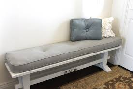 Decor Inspiring White Bench And Indoor Bench Cushions In Tufted