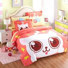 kawaii bed sheets summer kid cute animal bedding set cartoon cat bear 3 bed set children