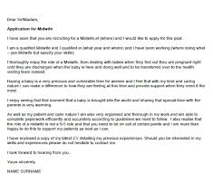 Midwife Cover Letter Example Icover Org Uk