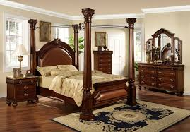 gorgeous 4 poster king bedroom set within cassimore pearl silver king upholstered poster canopy bed