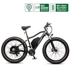 60v 2000w fat tire electric bike