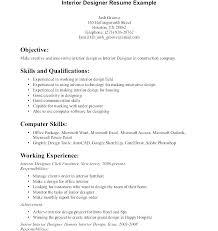 Interior Designer Resume Returneemigrant Info