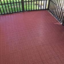 pvc interlocking outdoor deck tile