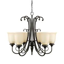 beverly 6 light chandelier oil rubbed bronze amber glass shades
