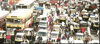 happy new year from pune traffic crux of the problem network   pune traffic jam