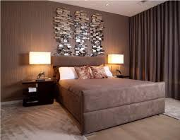 Cozy Bedroom Ideas With Modern Table Lamp And Mahogany Nightstands