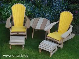 adirondack chairs. 2 Adirondack Chairs, Footstool, Table, Yellow Cushion Chairs D