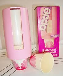 pink dixie cup dispenser automatic