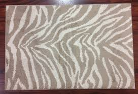 interesting zebra kitchen rug 30 x 46 zebra stripes skin beige brown tan kitchen rug mat