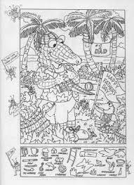 Small Picture Hidden Object Coloring Pages Hidden Picture Coloring Page Free