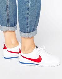 nike shoes white low tops. nike classic cortez trainers in retro leather shoes white low tops